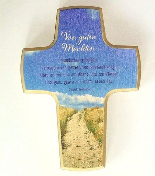 Kinderkreuz Kreuz Holzkreuz mit Spruch, Christliches Geschenk