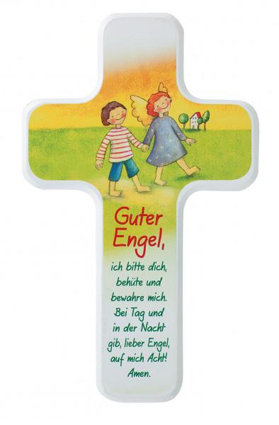 Kinderholzkreuz - Kreuz mit Motiv, Guter Engel