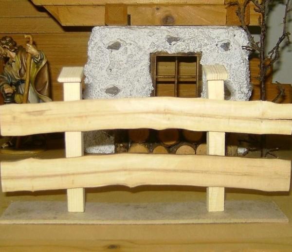 Miniatur Weidezaun aus Holz, Krippenzubehör