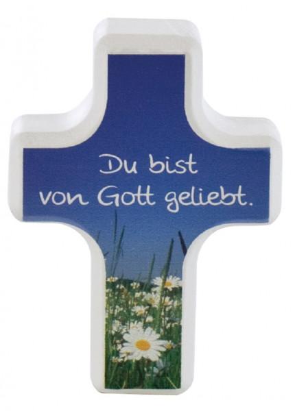 Handschmeichlerkreuz Holz - Du bist von Gott geliebt