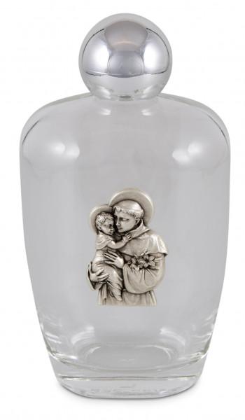 Weihwasser-Flasche Glas, Hlg. Antonius mit Kind