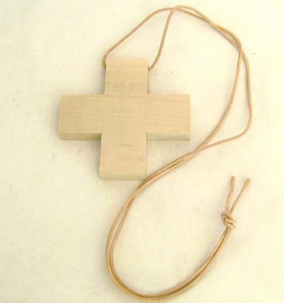 Kinderkreuz Kreuz Holzkreuz, Lederriemen Christliches Geschenk