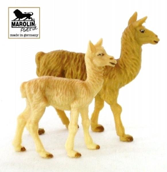 Tierfiguren Lama mit Jungtier