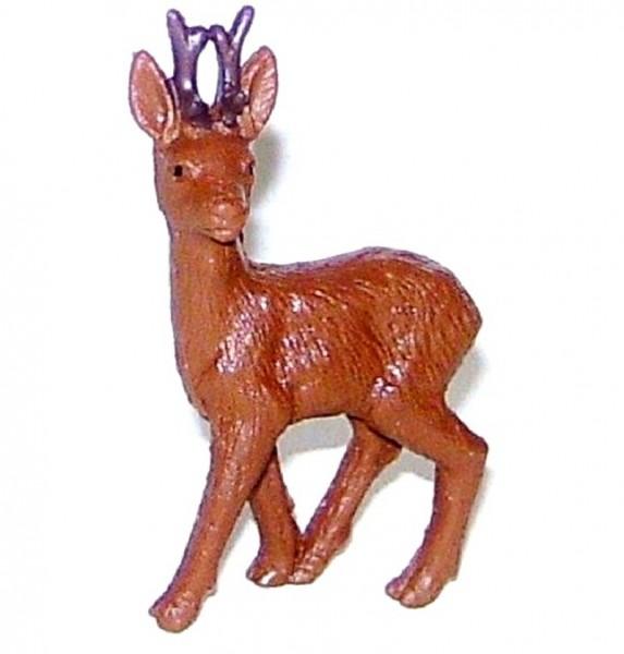 Tierfigur Rehbock braun, Sammelfigur Plastik