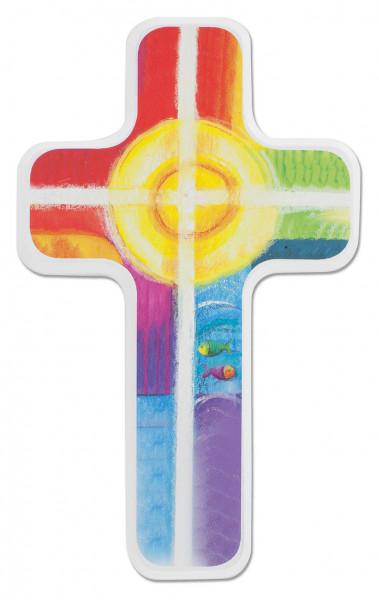 Kinderholzkreuz - Kreuz farbig bedruckt