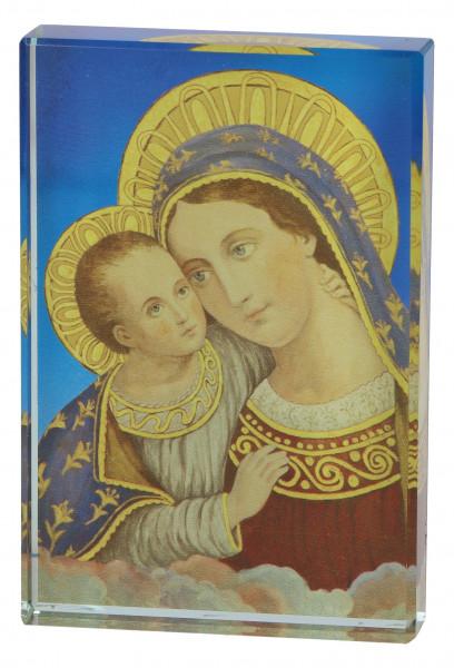 Glasquader - bedruckt zum aufstellen Maria m. Kind