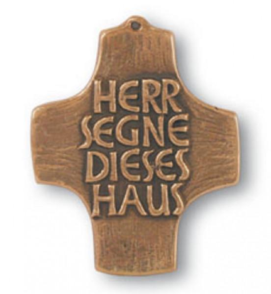Kreuz aus Bronze - Schmuckkreuz, Haussegen