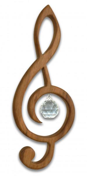Fensterdeko Violinschlüssel 12cm Kristallkugel 3cm