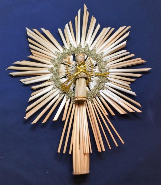 113-785 Baumspitze mit Engel und Goldbrokat