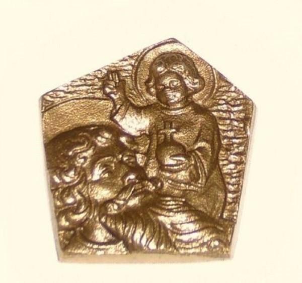 Autoplakette Bronze Christophorus Magnet