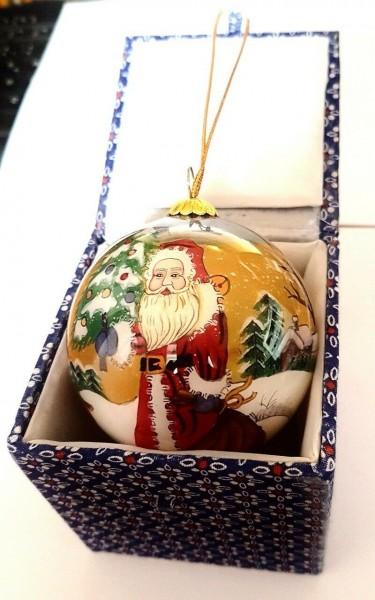 Glaskugel mit Box, Weihnachtsmann Gkinnen6