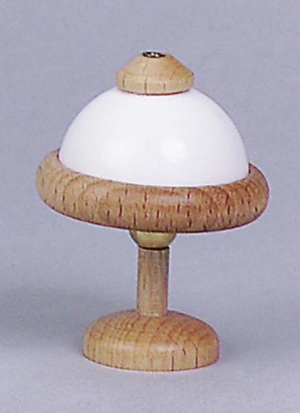 Puppenhaus Mini Tischlampe 3,5V mit Holzfuß und Kunststoffschirm