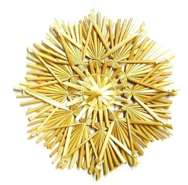 Strohstern 12cm Stern mit Naturfaden, Stroh Baumschmuck
