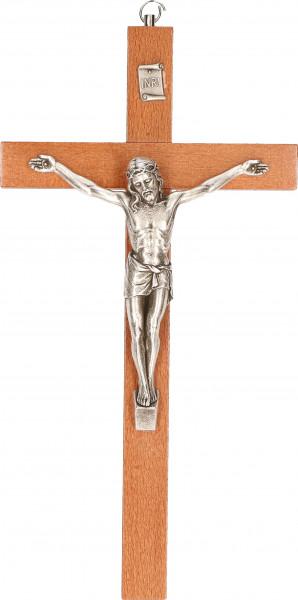 Holzkreuz mit Metallcorpus 25 x 13cm