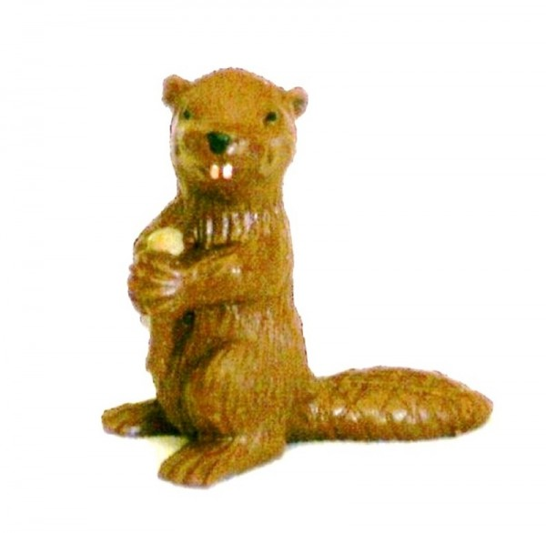 Tierfigur Biber braun Mini Deko Sammelfigur aus Plastik