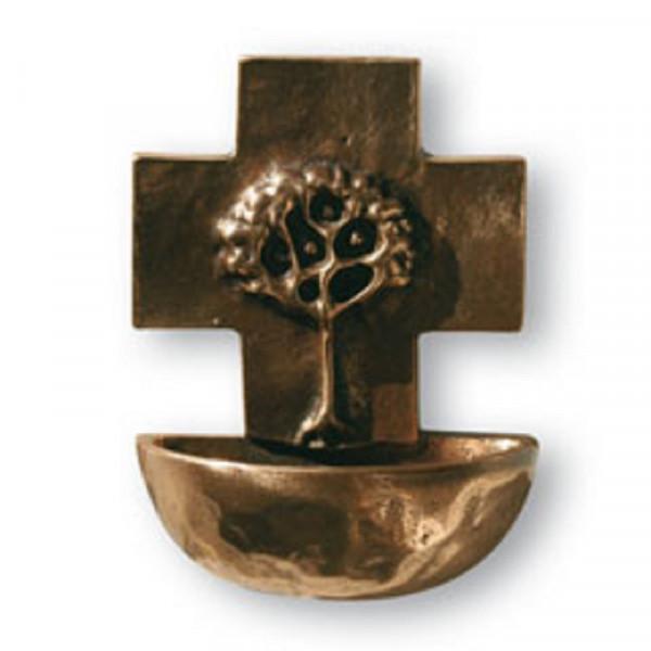 Weihwasserkessel aus Bronze - Motiv Lebensbaum