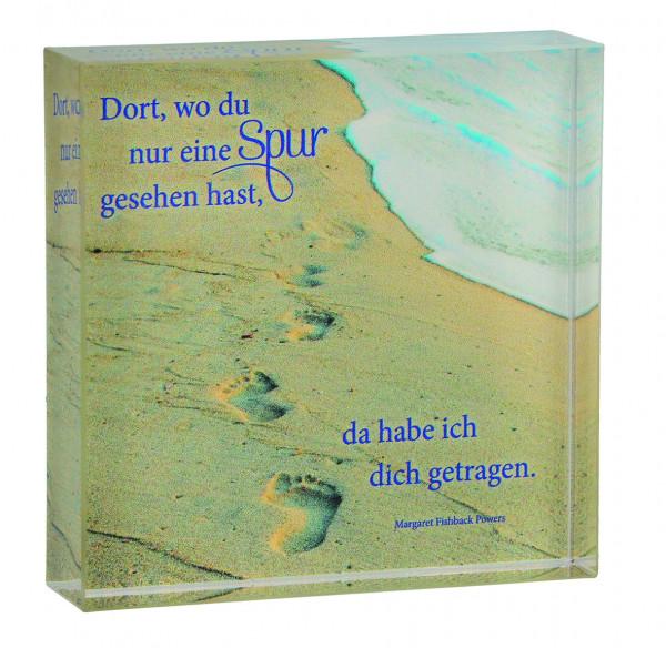 Relief Acrylglas zum aufstellen - Spuren im Sand