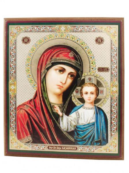 Ikone Madonna mit Kind auf Holzplatte 10x12 04/77