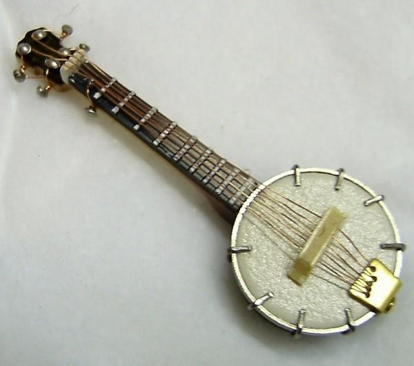 Deko Musikinstrument MIniatur Banjo 7cm, Puppenhausminiatur