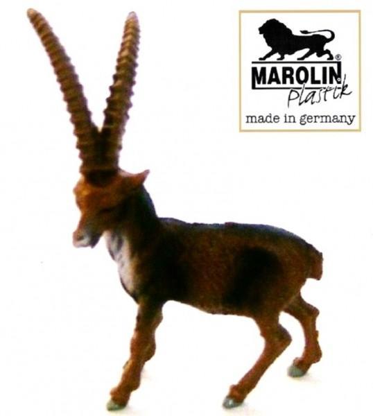 Tierfigur Steinbock stehend Marolin Plastik Sammelfigur