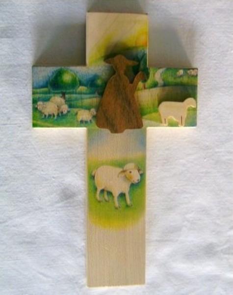 Kinderkreuz Kreuz mit dem guten Hirten