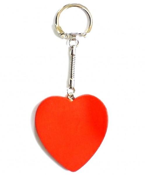 Schlüsselanhänger Herz aus Holz, rot