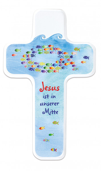 Kinderholzkreuz - Kreuz Jesus ist in unserer Mitte