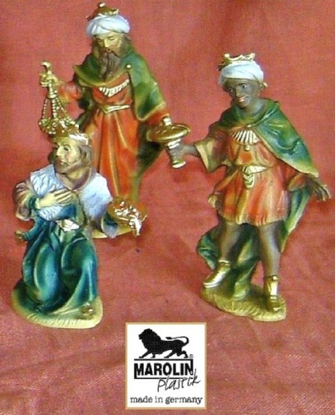 Heilige Drei Könige zu 12cm Krippenfigur Marolin Plastik Figur