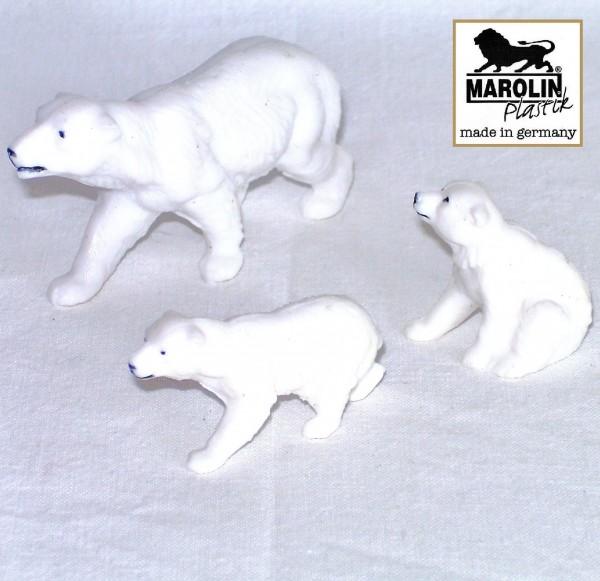 Eisbärgruppe Tierfiguren aus Plastik