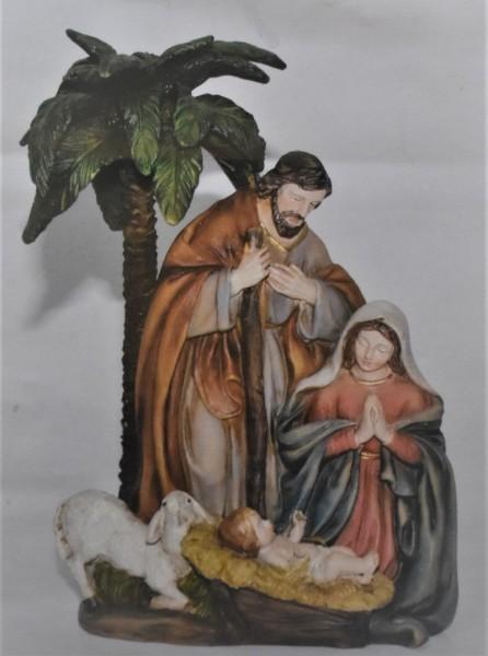 Heilige Familie, mit Schaf und Palme