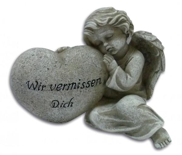 Engel an Herz lehnend Wir vermissen Dich, 83/71
