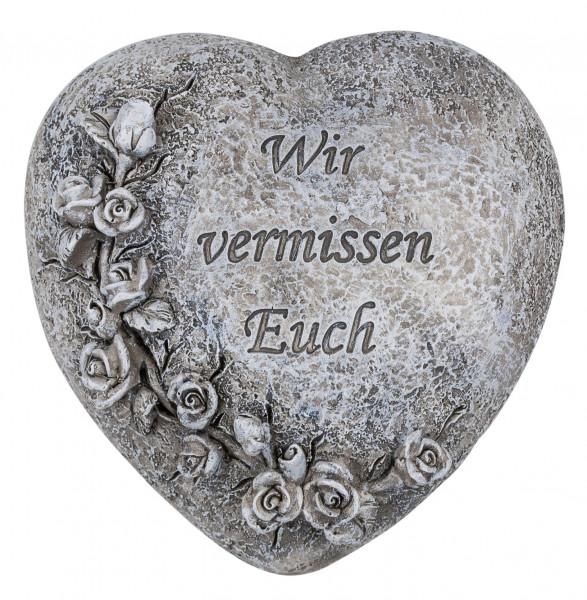 Herz mit Rosenranke, 11x8,5x10,5cm, 83/92