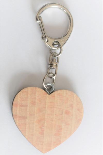 Schlüsselanhänger A22171 Holzherz klein