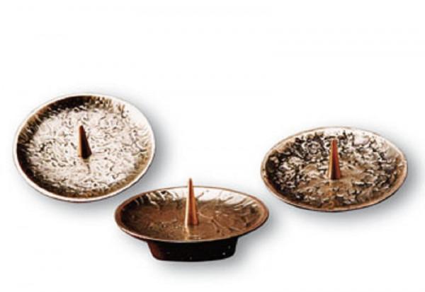 Bronzeleuchter Set 3-tlg für Kerzen bis 70mm D