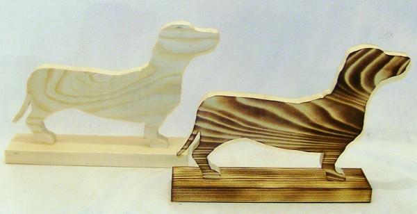 Deko Holz Dackel 27x17cm, aus Fichtenholz