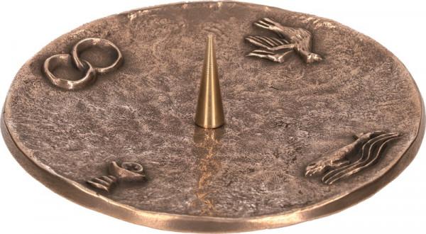Symbolleuchter aus Bronze für Kerzen bis 80mm D
