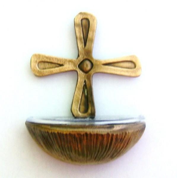 Weihwasserkessel aus Bronze, Weihbecken, Christliches Geschenk