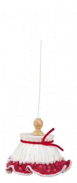 Puppenhaus Miniatur Hängelampe 3,5V in Stoff
