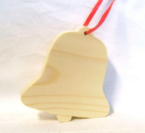 Baumaufhänger Glocke, Christbaumschmuck Holz Traditionell