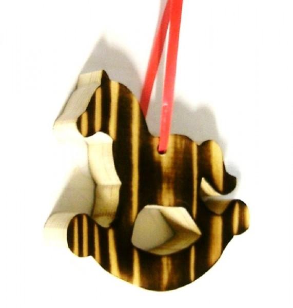 Baumaufhänger Schaukelpferd, Christbaumschmuck aus Holz