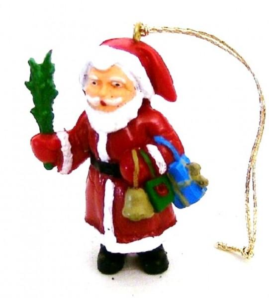 Weihnachtsmann Figur Plastik, Baumaufhänger Baumschmuck