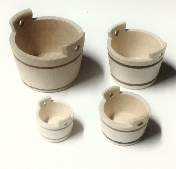 Miniatur Schaff Wanne aus Holz, Krippenzubehör