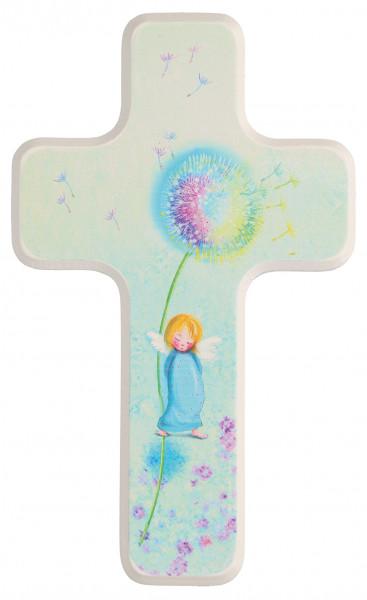 Kinderholzkreuz - Kreuz Motiv Pusteblume - Engel