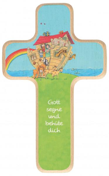 Kinderholzkreuz - Kreuz mit Motiv Arche Noah