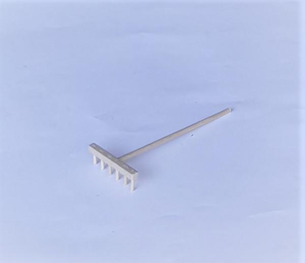 Miniatur Holzrechen natur breit 9 x 4cm