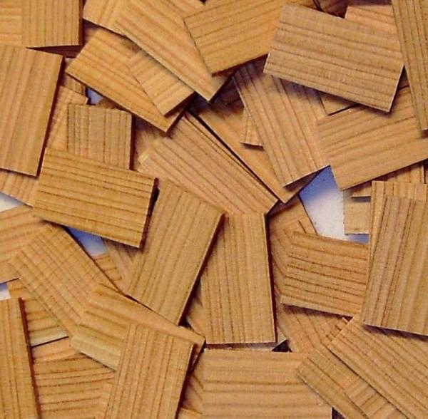 Miniatur Lärchenholz Schindeln, Bastelholz
