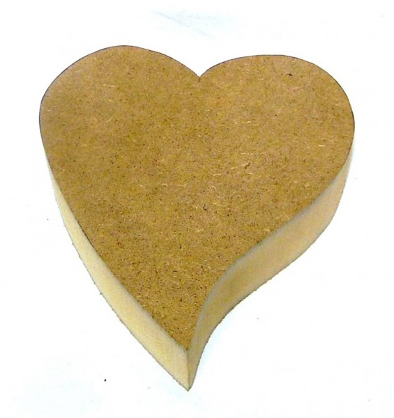 Deko Herz geschwungen Rohling aus MDF Holz 11,5cm